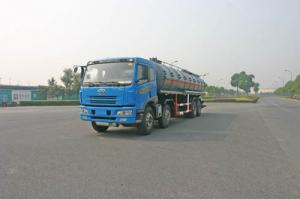China Gas líquido diesel del tipo de transmisión de manual del camión del tanque/6X4 FAW 24,5 cbm on sale