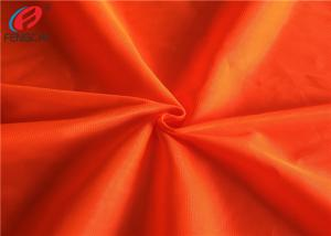 China Safety Vest Orange Reflective Fabric Fluorescent Material Fabric For Garment on sale