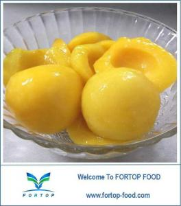 China Canned Yellow Peach Halves in Light Syrup on sale