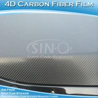 SINO Stretchable Car Wrapping Sticker 3D/4D Carbon Fiber Vinyl 1.52x30m