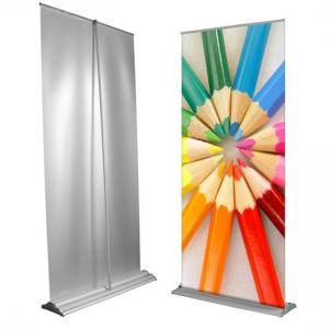 China Custom Large Retractable Display Banners , Advertising Trade Show Roll Up Banners Stand on sale