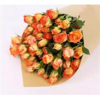 China 2019  High Quality Class A Fresh Multi-Colored Rose Fresh Cut Flower orange rose multi head rose flower