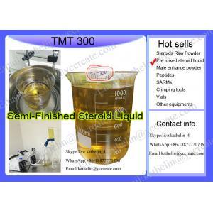 China Huile demi-complète de mélange de l'injection pré mélangée TMT300 de stéroïde pour le bodybuilding on sale