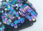 Multi 18mm Large Colorful Sequin Fabric Designing Clothing Iridescent Color