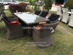 Round wicker dining set  for Home,Hotel, Garden and Beach by Clover Lifestyle Outdoor Furniture China Leisure furniture
