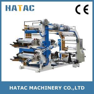 China 4-color Adhesive Label Printing Machine,Flexo Printing Machine,Plastic Film Printing Machine on sale