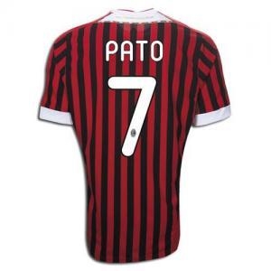 e3a15eb9636 11-12 AC Milan Home #7 Pato Jersey Shirt Football Uniform for sale ...