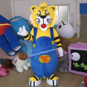 China adult tiger head mascot costume tiger mascot costume for sale on sale