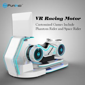 China VR Car Driving 9d Cinema Motorcycle Vr Simulator , Racing Game Machine on sale