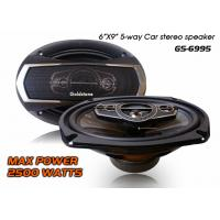 China 6x9 5-way system coaxial car speakers with 2500W max power on sale