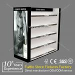 2013 hot sale acrylic cosmetic display showcase