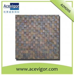 China Wooden mosaic wall tiles with uneven surface and 3D effect for decoration on sale