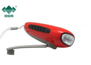 China Portable Solar Powerful Hand Crank Dynamo Led Flashlight With FM Radio on sale
