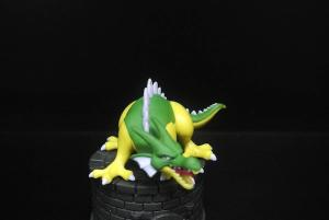 China Green Yellow Color Japanese Anime Figures Dragon Shape With A Base on sale