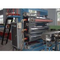Plastic Sheet Extruder Machine , Double Screw Bule Plastic PVC Sheet Production Line