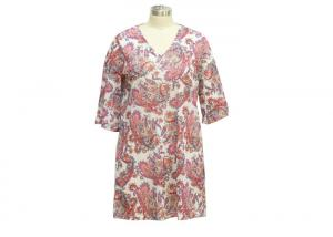 China Nice And Cool Womens Mesh Dress , 3 4 Sleeve Casual Summer Dresses Fashionable on sale