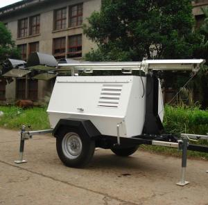 China 6kw - 8kw Diesel Light Tower Generator , Mobile Light Tower 1000Wx6 Lamps With Trailer on sale