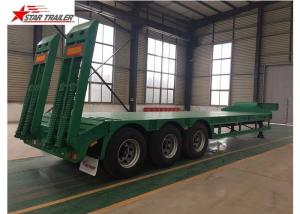 China 50T Payload Equipment Hauling Trailers , Custom Colors Heavy Equipment Hauling Trailers on sale