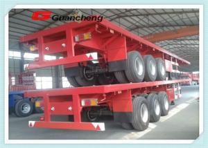 China 60ton Tri - Axle Flatbed Chassis 40ft Heavy Duty Semi Trailer For Cargo Transport on sale
