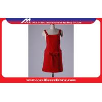 Red / Black Chef Apron Uniform / Adjustable Restaurant Waiter Apron with Pocket