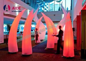 China 3M High Inflatable Lighting Decoration With LED Light and Blower Air Cone For Event Welcome part on sale