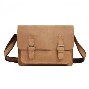 China Vintage Handmade Cowhide Leather Office Laptop Bags For Men on sale