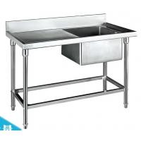 Catering Sinks Stainless Steel Single Sink with Side Table 1200*600*800+150mm