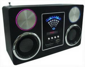 China Sound Box FM radio mp3 Mobile Speaker Mini Boombox SD card on sale