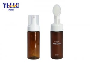 China Amber PET Empty Soap Dispenser Bottles For Liquid Facial Cleanser 120ml on sale