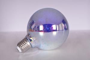 China 3D glass pyrotechnic LED light bulbs Christmas decoration creative light bulbs 85-264v 9.5*14cm Colorful E27 on sale