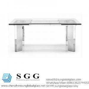 China Excellence quality Extension Dining Table glass top on sale