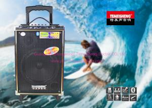 China Portable Rechargeable Trolley Speaker System With Bluetooth / Wireless Mic on sale