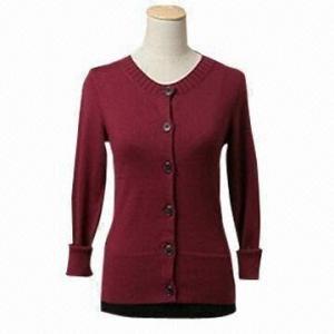 China Women's basic style cardigan, long sleeves on sale