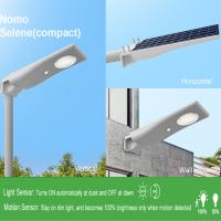 China Smart motion sensor compact all in one PC+ABS+ANTI-UV material solar lightweight street light on sale