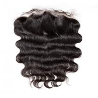 China Customized Lace Frontal Closure 13x4 , Lace Front Human Hair Toppers Natural Black on sale