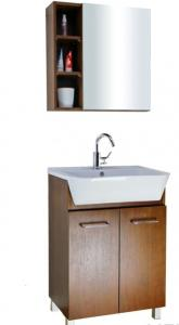 China Floor mounted themofoil Bathroom Vanity,PVC bathroom cabinet,Modern home furniture on sale