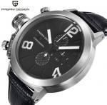 Wholesale PAGANI DESIGN Genuine Leather Band Men Waterproof 30m Quartz Chronograph Calendar Wrist Watch  CX-2332