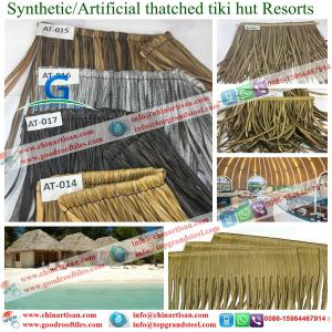 China AT-000 Synthetic Palm Thatch Tiki Huts  Artificial Thatch Panels bar on sale