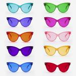Cateye Color Tinted Glasses Plastic Glasses Party Eyewear Cosplay Props