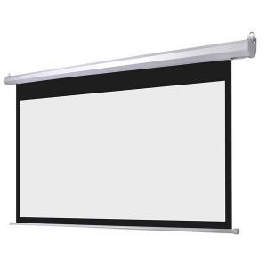 China Hacia fuera las pantallas de proyección eléctricas de la puerta teledirigidas/la pantalla de la presentación ruedan para arriba on sale