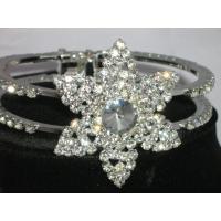 unique six ponited star crystal bangle bracelets for women