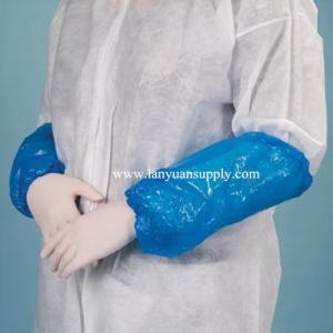 China Disposable PE Plastic Sleeve Cover Made by Machine/Disposable PE Plastic Arm Sleeve Cover on sale