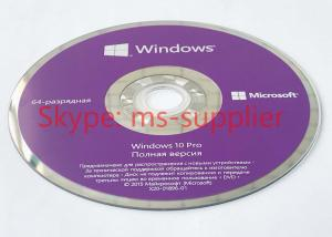 China Paper Box 32 Bit 64 Bit Original Microsoft 10 Pro Windows OEM Software 64 Bit Activation Globally on sale