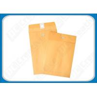 China 6 x 9 Golden, Brown Metal Clasp Envelopes Kraft Paper Gummed-Seal Envelopes on sale