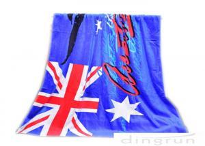 China 30*60 Velour Custom Printed Beach Towels With Australian Flag on sale