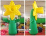 4m Giant Decorative Inflatable Stand Flower for Event and Arboretum Decoration