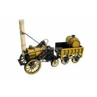 Antique model train (1829 YELLOW STEPHENSON ROCKET STEAM LOCOMOTIVE)