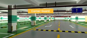 China High quality 800mm new rubber wall corner guard edge guard for garage on sale