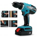 Blue Battery Operated Power Tools Cordless Drill Waterproof CE / GS Approval