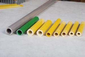 China Fiberglass Circular Tube , FRP Round Tubing With Customized Color on sale